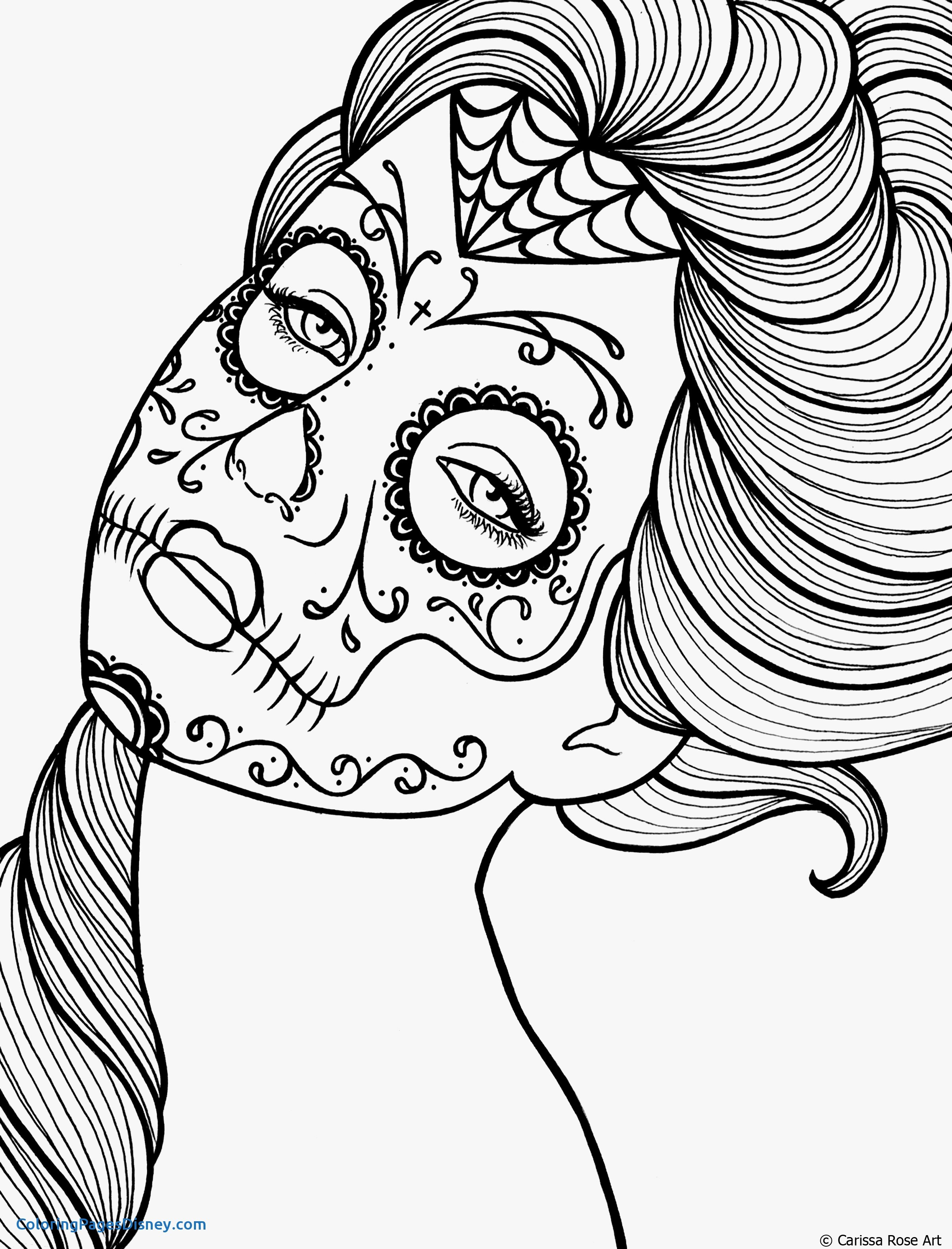 2400x3150 Pin Up Girls Coloring Pages Luxury Sugar Skull Girl Drawing