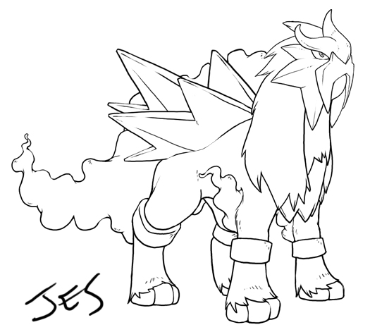 525x471 Marvellous Design Pokemon Coloring Pages Entei