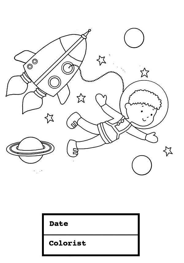 Suit Coloring Page