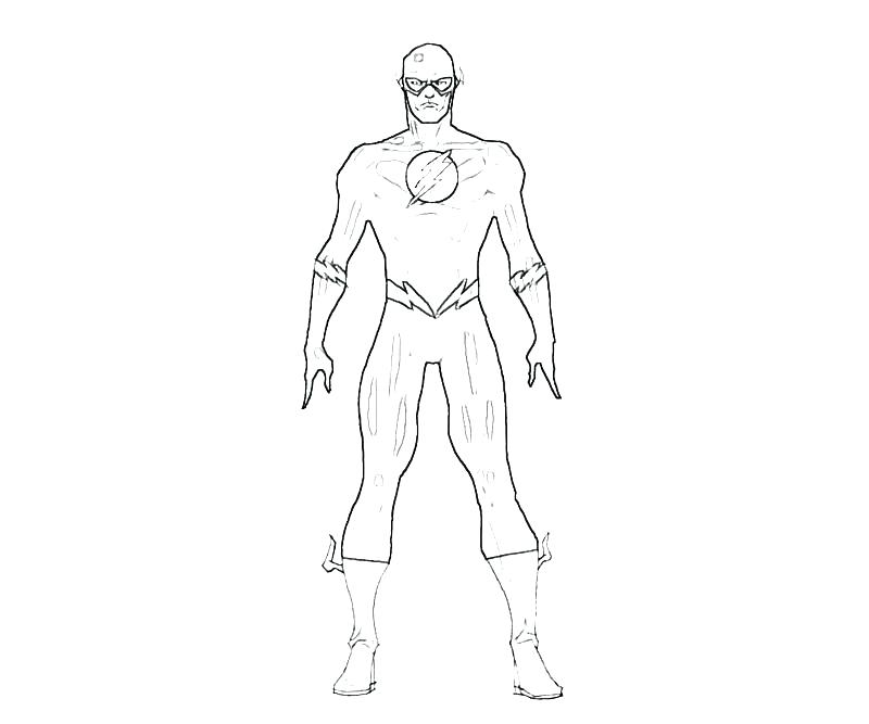 800x667 The Flash Coloring Page Flash Coloring Pages The Flash Suit