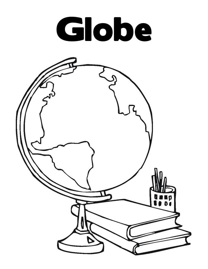 685x886 Printable Globe Coloring Pages