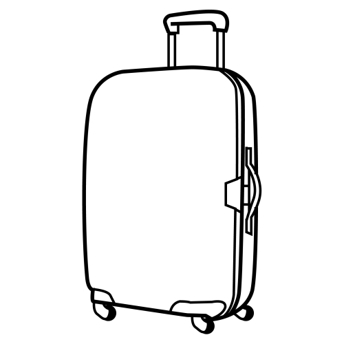 500x500 Suitcase Coloring Page
