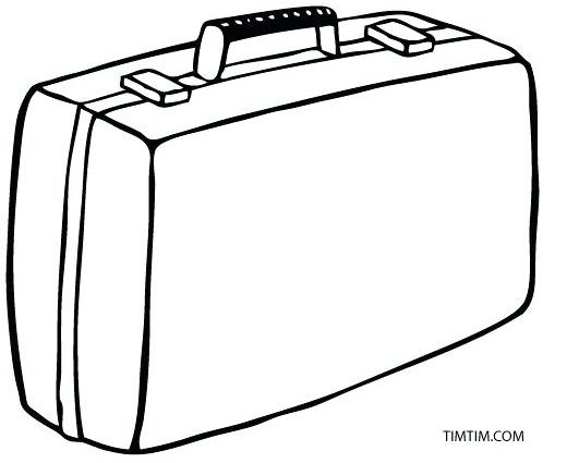 520x425 Suitcase Coloring Page Traveling Kid Coloring Page Click To See