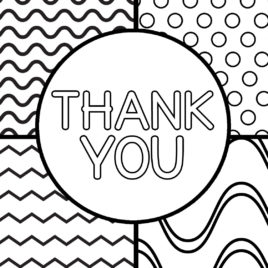 268x268 Thank You Coloring Pages Printable Thank You Cards For Kids My
