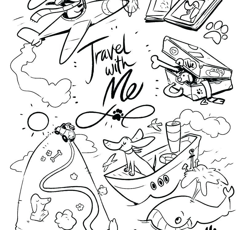 The Best Free Travel Coloring Page Images Download From 186 Free