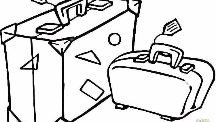750x425 Travel Coloring Pages Suitcase To Travel Coloring Page