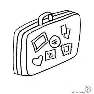 300x300 Coloring Page Of Suitcase For Coloring For Kids