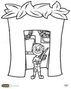 236x295 Sukkot Coloring Pages Luxury Week Sukkot Free Jewish Coloring