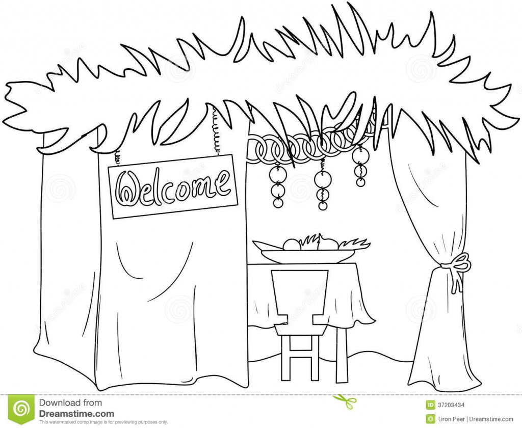1024x844 Coloring Pages Sukkah Maxvision With Sukkot