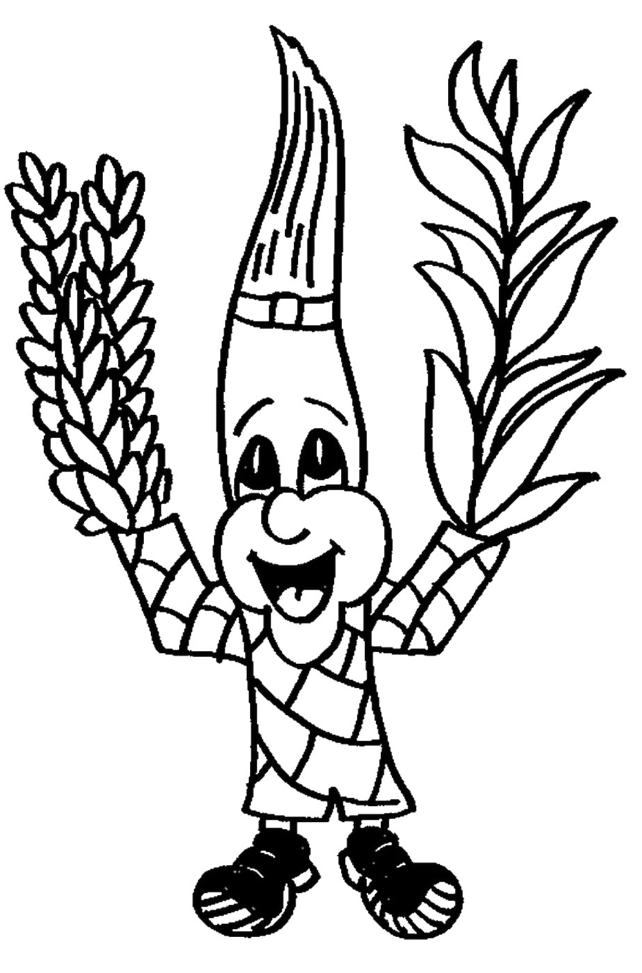 924x1400 Sukkot Coloring Pages