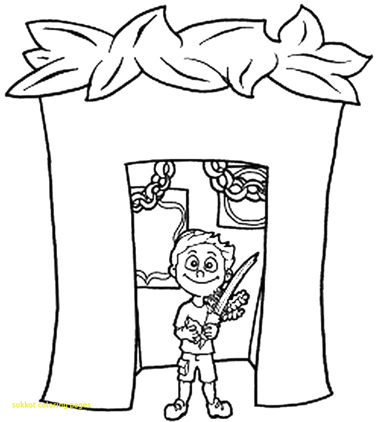 1258x1400 Sukkot Coloring Pages
