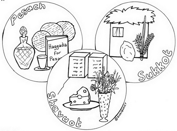 570x422 Sukkot Free Jewish Coloring Pages For Kids