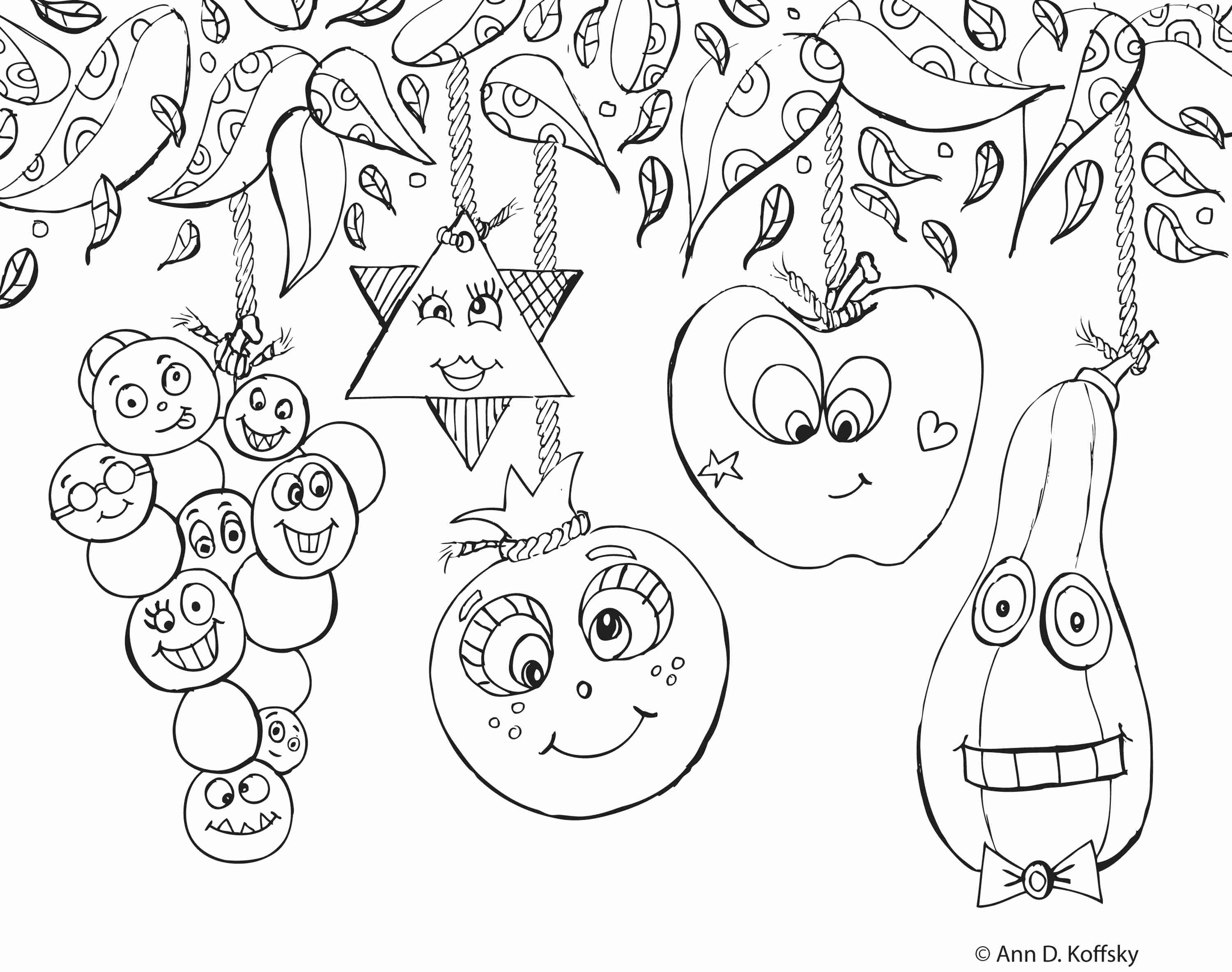 3000x2368 Building A Sukkah For Sukkot Coloring Page Free Printable