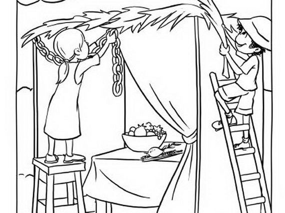 570x425 Free Sukkot Coloring Pages Sukkot Coloring Pages For Kids Family