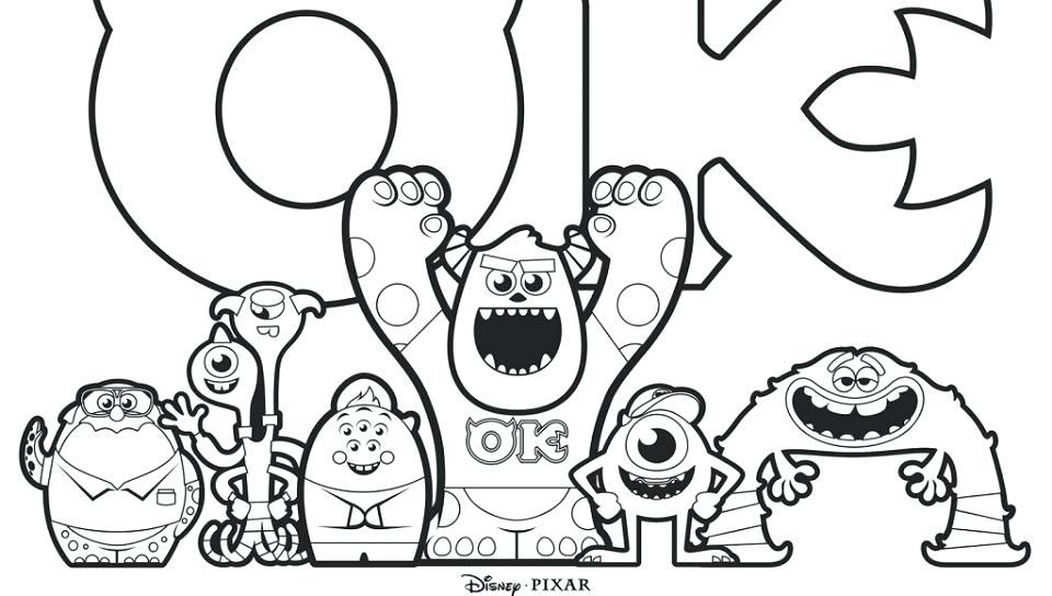 Sully Coloring Page at GetDrawings.com | Free for personal use Sully ...