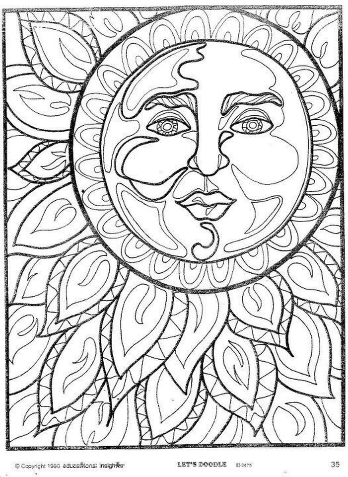 Summer Adult Coloring Pages At Getdrawings Free Download