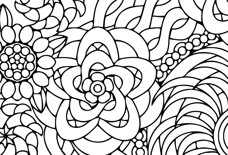 929x631 Flowers Of Summer Coloring Page