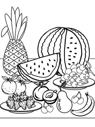 360x480 Pineapple Printable Coloring Page Printable Summer Coloring Pages