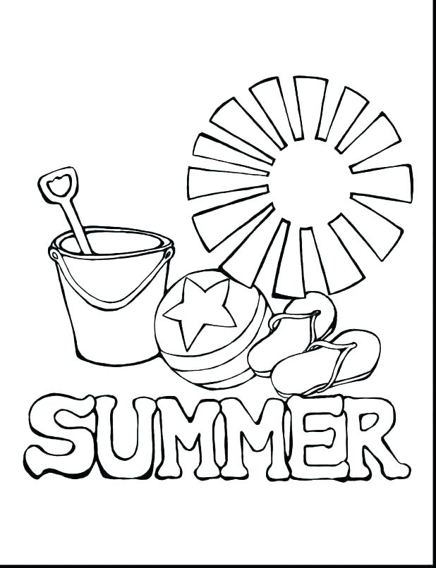 618x806 Summer Coloring Pages Printable
