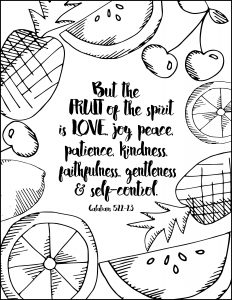 232x300 Amazing Free Fruit Of The Spirit Coloring Sheets Printables