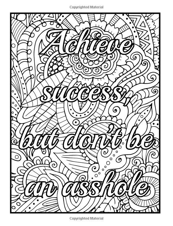 600x783 Be Fcking Awesome And Color An Adult Coloring Book