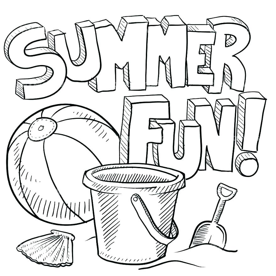 878x878 Beach Scene Coloring Page Summer Coloring Pages For Kindergarten