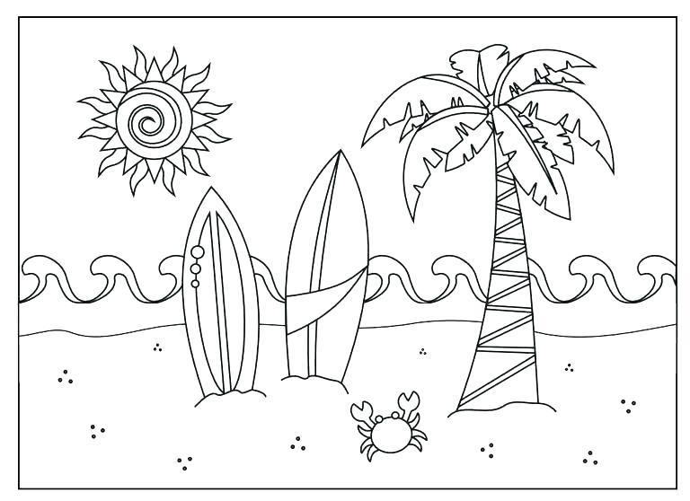 768x558 Coloring Pages Beach Coloring Page Beach Coloring Page Beach Beach