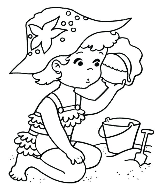 600x715 Or Summer Beach Coloring Pages Summer Coloring Page For Kids Beach