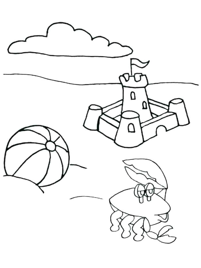 700x932 Summer Beach Coloring Pages Free Printable Worksheet Summer Beach