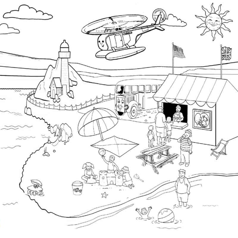 800x800 Summer Beach Coloring Pages Many Interesting Cliparts