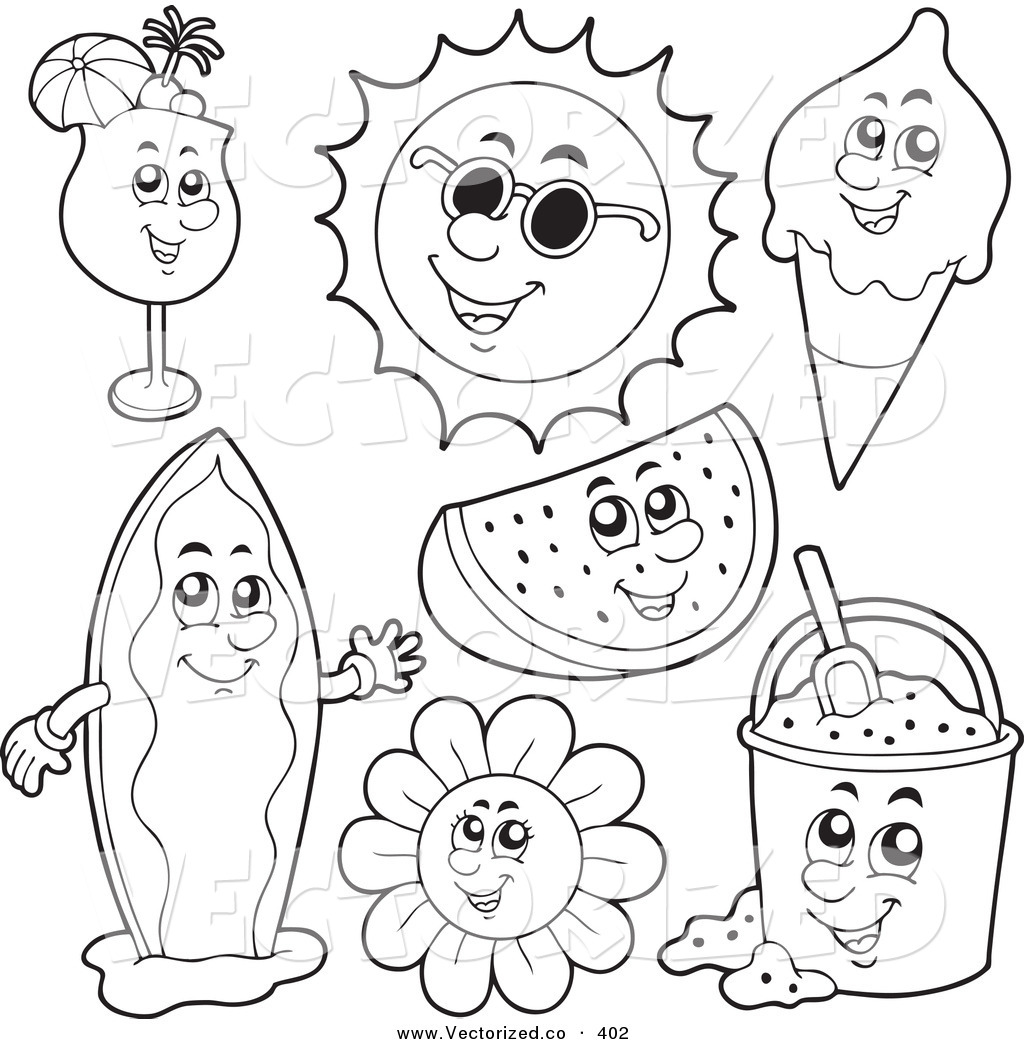 1024x1044 Summer Coloring Pages