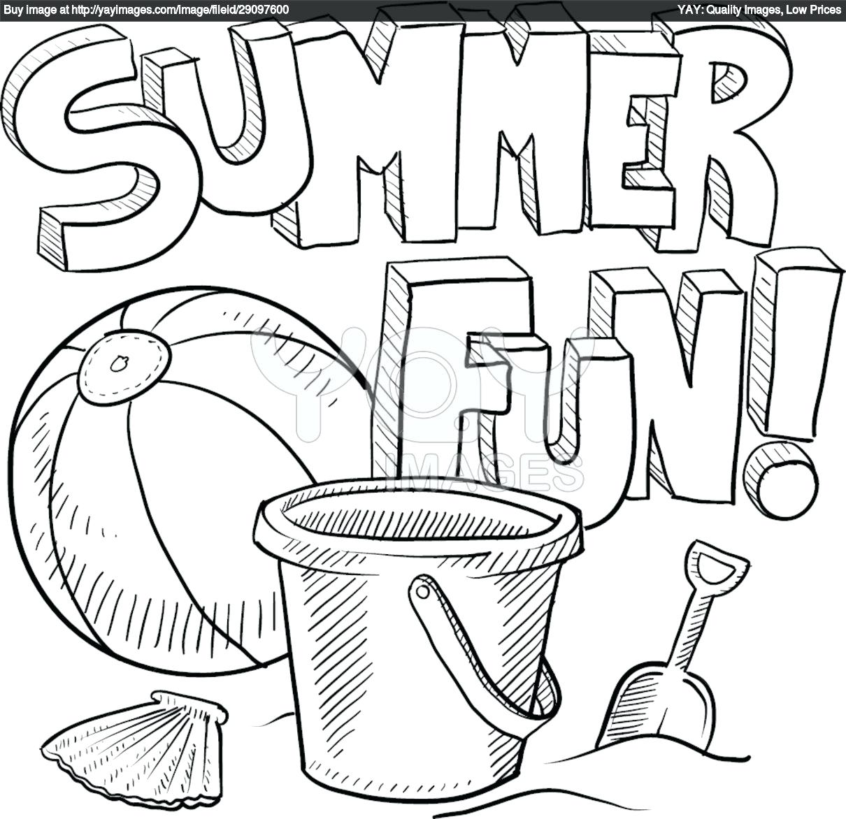 1210x1172 Beach Coloring Page