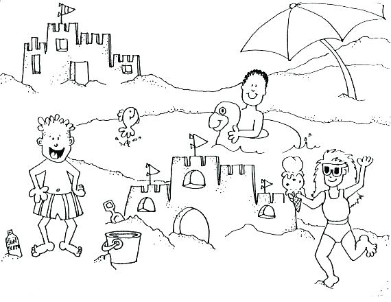 570x440 Beach Coloring Page Free Printable Beach Coloring Pages Beach