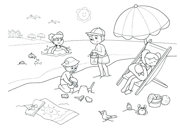 600x442 Beach Coloring Page Printable Beach Coloring Pages Page Children