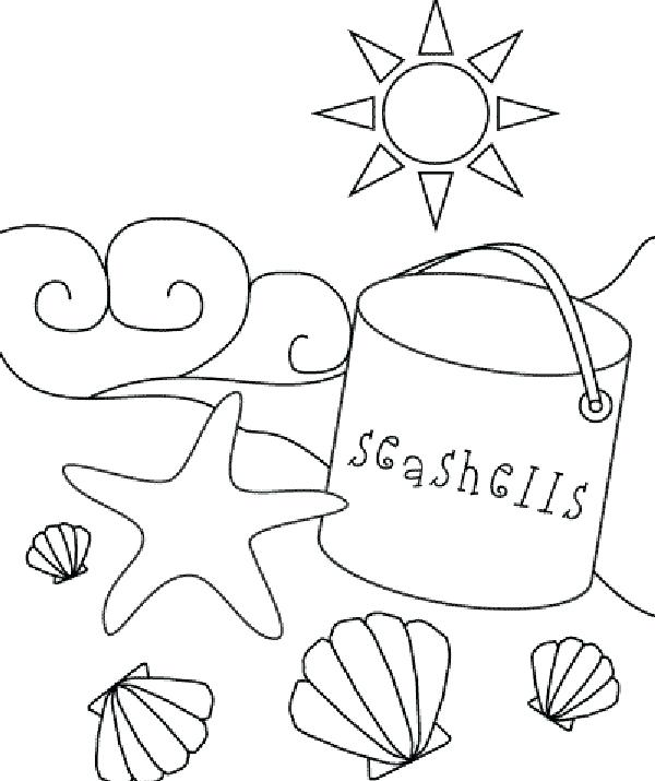 600x715 Beach Coloring Pages Coloring Pages Beach Coloring Pages Preschool