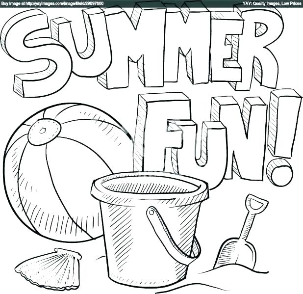 618x599 Coloring Pages Summer Holidays Good Printable Summer Coloring