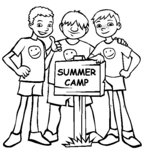 290x295 Summer Camp Coloring Page Coloring Book