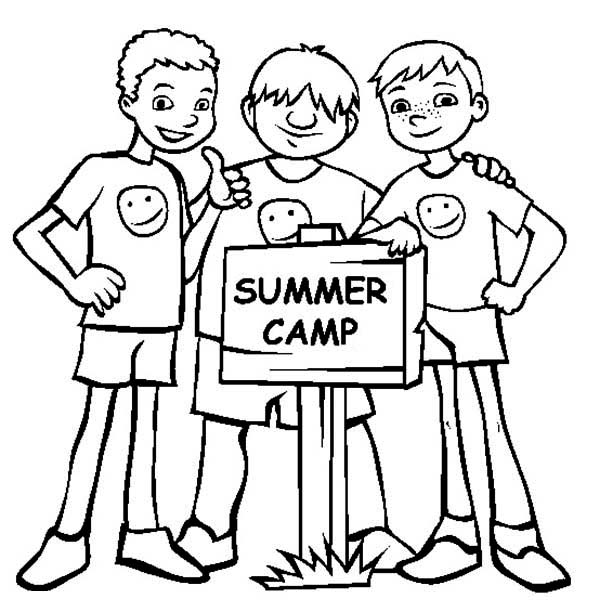 600x612 Bestfriends On Summer Camp Coloring Page