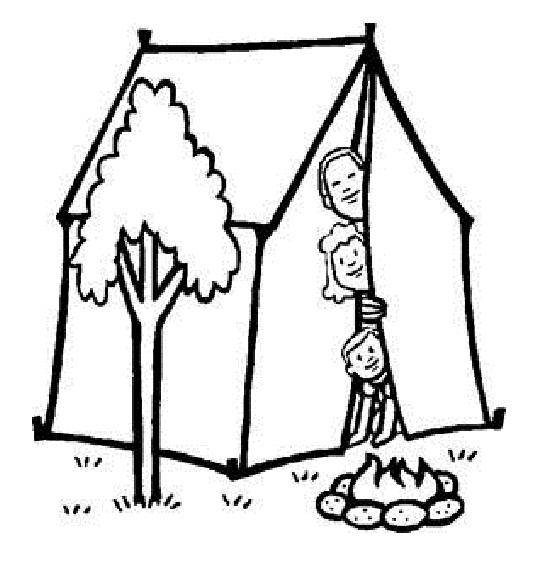 555x574 Summer Camp Coloring Pages