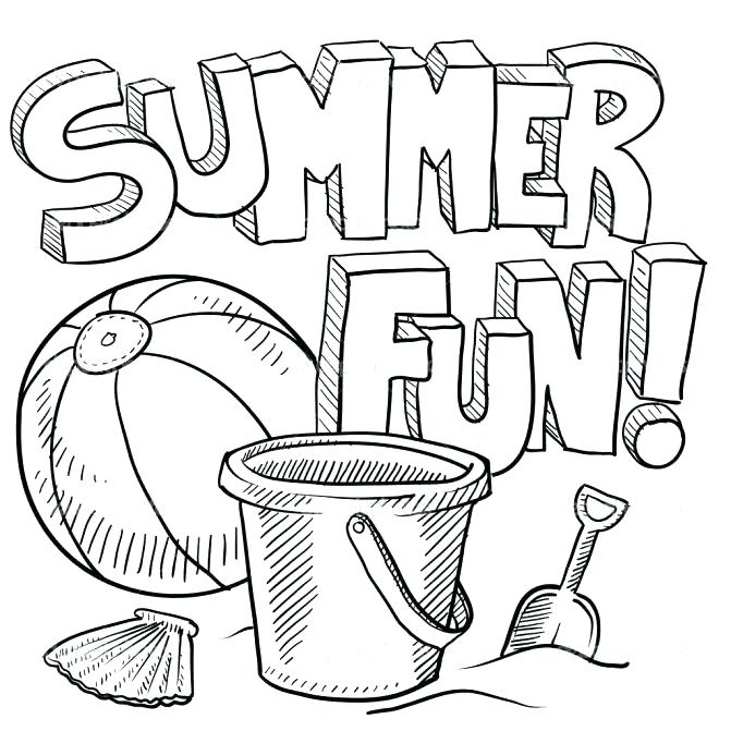 671x671 Summer Camp Coloring Pages Amazing Free Printable Summer Coloring