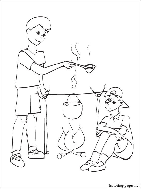 560x750 Summer Camp Coloring Page Coloring Pages