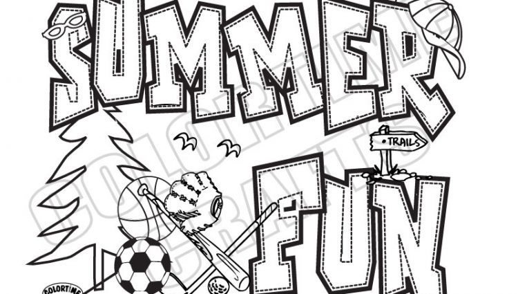 750x425 Summer Camp Coloring Pages