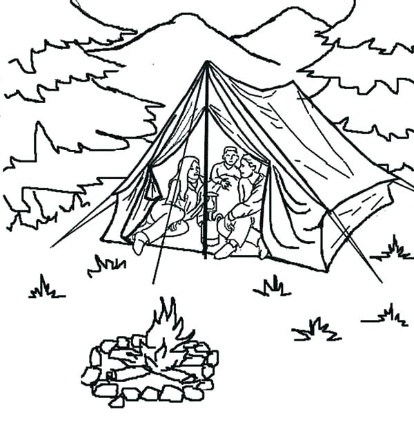 600x628 Vacation Coloring Pages Coloring Pages Of Summer Summer Camp