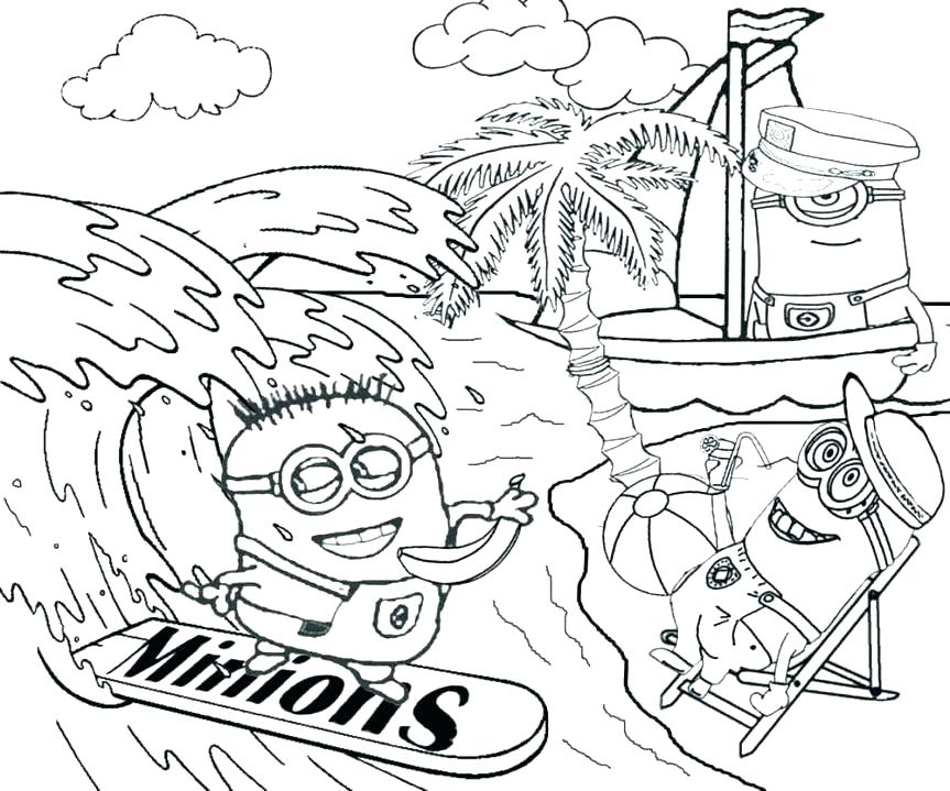 863x719 Vacation Coloring Pages Vacation Coloring Pages Coloring Pages