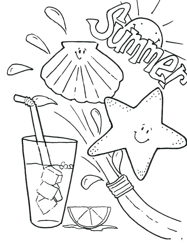600x784 Camp Coloring Pages