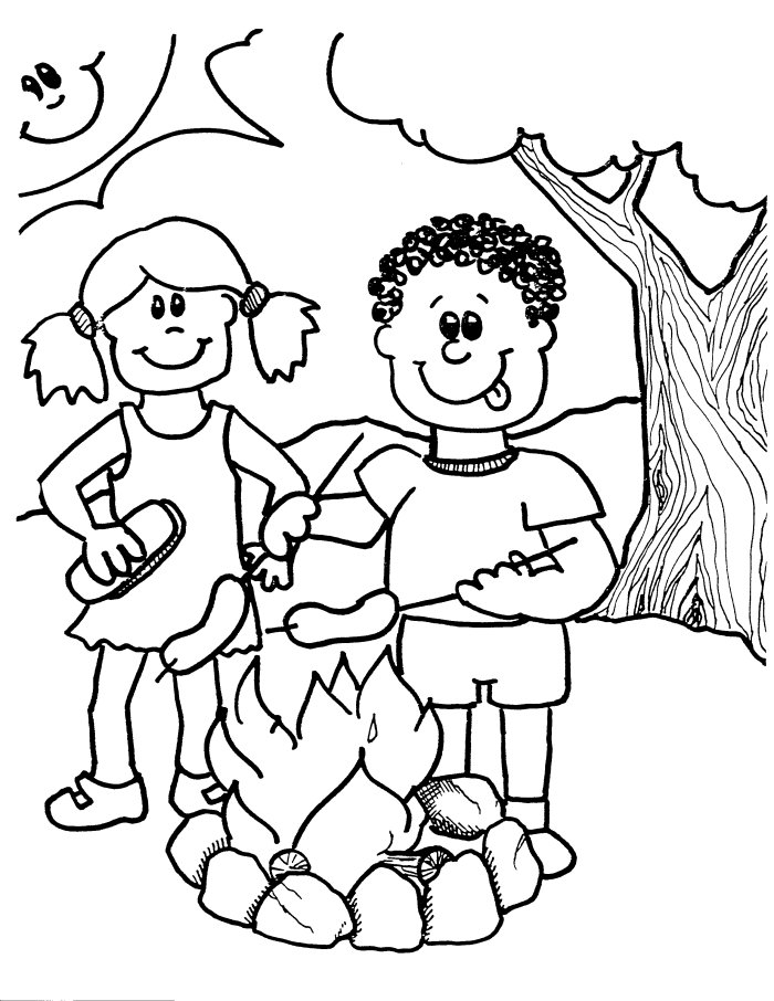 700x906 Campfire Coloring Pages