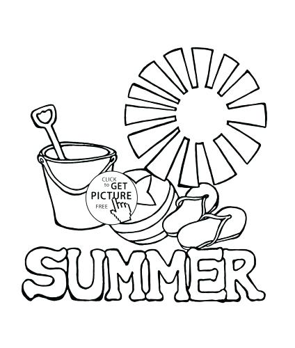 424x500 Coloring Pages Summer Color Pages Coloring New Season Part Free