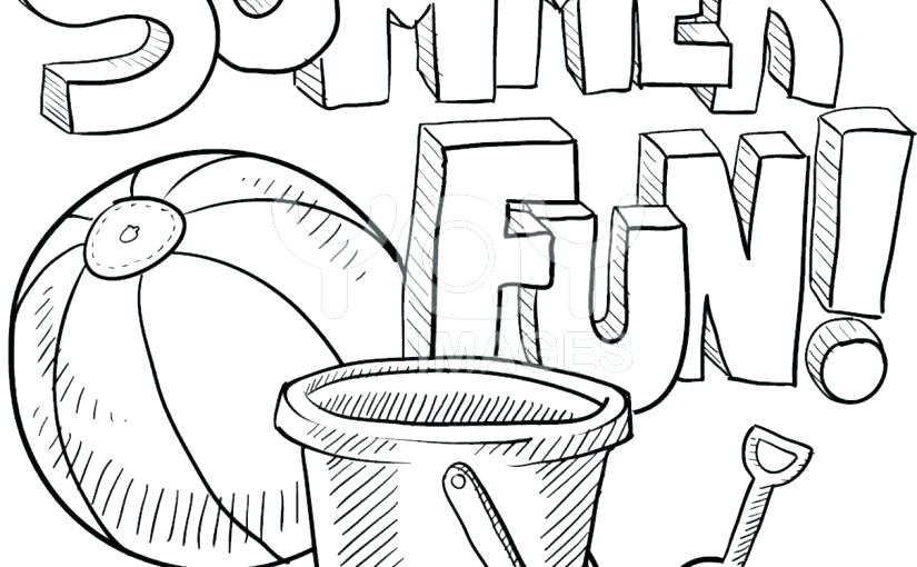 825x510 Coloring Pages For Summer Pail And Shovel Coloring Page Coloring