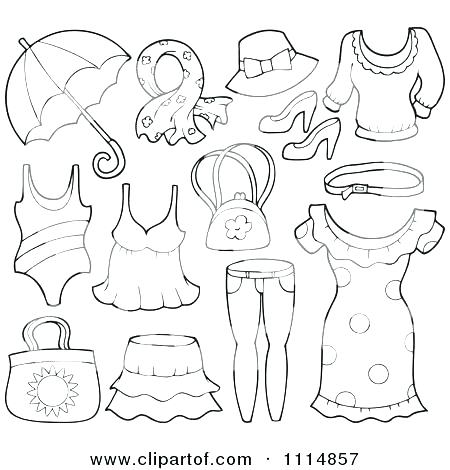 450x470 Coloring Pages Summer Clothes