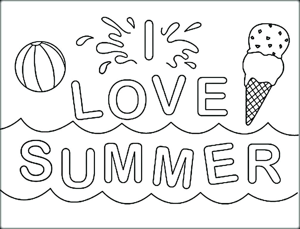 1008x768 Coloring Pages Summer I Love Summer Coloring Pictures Coloring